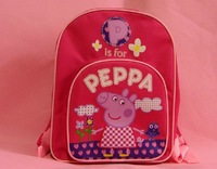 Free shipping Pink Backpacks Peppa pig children's school bags backpacks schoolbag Backpack peppa pig