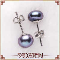 black button pearl 2013 earrings