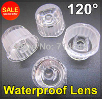20pcs/lot, LED lens 120 degree, waterproof lens with holder set together, 1W 3W led lens, Optical lens wholesale frees shipping
