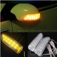Yellow High Brightness 2 X13 LED Car Soft Turn Indicator Signal Light 12V Rearview Mirror Lights