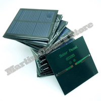 10pcs/lot solar panels 5.5v 90mA 0.6W mini solar cell 6.5x6.5 for Small power appliances drop shipping