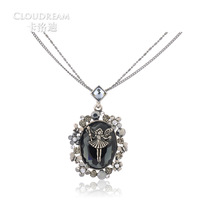 Half vintage gem necklace multi-layer long design personalized all-match pendant necklace female accessories