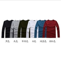 Free Shipping 2013 Hot Sales Men's Full T-Shirt Casual High Quality T-Shirt 6 Colors 4pcs/lot