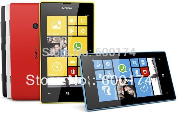 Hot déverrouillé téléphone bon marché d'origine nokia lumia 520 windows wifi 3g 8mp. Appareil photo à écran tactile gps smart rénové. téléphones mobiles