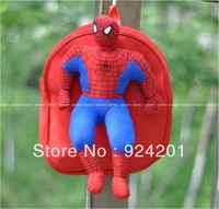 High quality,plush toys Spiderman children's school bags shoulder small bag children backpack Kindergarten student bags
