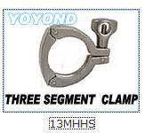 Stainless Steel 13MHHS-THREE SEGMENT HEAVY DUTY CLAMP