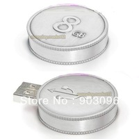 Hot Sale Silver Coin USB, Metal USB Flash Drive, 2GB 4GB 8GB 16GB 32GB USB 2.0 Disk, Pen Drive, Fast Delivery, Free Shipping!