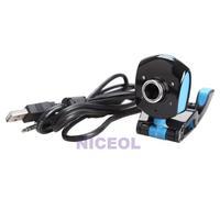 NI5L 4 LED USB 2.0 50 Mega Pixels HD Webcam Web Cam with Mic for Laptop Desktop