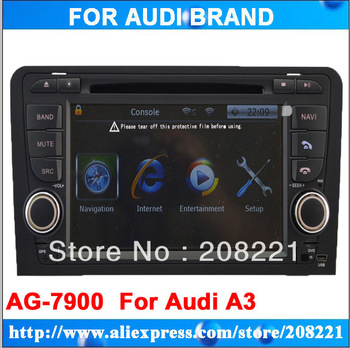 Roadrover 7 inch  2 din car dvd player for Audi A3 gps navigation system