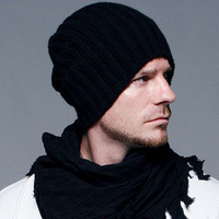 South Korean men's knitted hat fashion vertical bars winter wool hat Beckham Free Shipping!MZ49