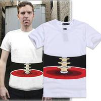 2014 new brand  summer men short sleeve shirt 3d three-dimensional bones T-shirt personality male