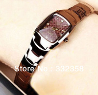 2013 Branded Tungsten Steel Watch Cystal Square Dial  Water Proof  Rose Gold Women's Waist Watch,free shipping