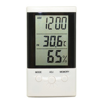 LCD Indoor Outdoor Digital Thermometer Hygrometer Temperature Humidity Meter Alarm Clock