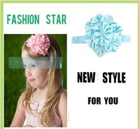 Free shipping (20pcs/Lot) 2013 Hot Children's Headband Girl's DIY Hair Accessories Multi-Colored Baby Head Flower + Headband