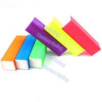 10pcs/lot colorful shine Buffer block Nail File Cuboid Acrylic nail art Buffer file tools
