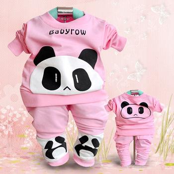 Online Wholesale Long Sleeve Autumn Outdoor Children Wear Garment, Cotton Kids Hoodies, Cute 2PCS Children Clothing Set