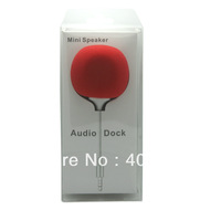 The Newest Style 3.5mm mini Audio Dock Speaker Audio Dock for iPhone/iPad /iPod MP3 MP4 Free Shipping by dhl
