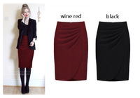 2013 New fashion Autumn&winter high waist skirt package hip skirt elegant woolen Skirt Free shipping