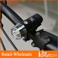 Free Shipping 2013 Wholesale Convenient Bike Lighting Lamp Black Outer Covering Design Bicycle Head Light