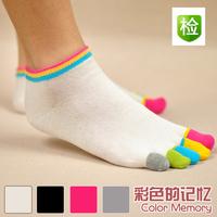 Free shipping 6pairs/lot Summer lovers toe socks  thin cotton sock slippers trend five-toe socks