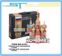Newest  A101 3D puzzle paper craft Russia Cathedral of the Assumption DIY three-dimensional puzzle Building models free shipping