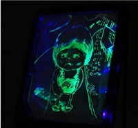 5pcs/Lot  New LED Message Board Kids Painting Writing Panel with Fluorescent Marker Pen Purple , Freeshipping Wholesale