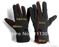 10pcs/lot Outdoor wear non-slip waterproof cold Finger Winter Camera Shooting Glove Black - Black  for canon 60d 550d 650d