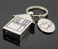 Usb flash drive 32g metal small house usb flash drive
