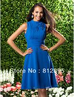 Blue Chiffon Knee Party Dresses Cocktail Dresses Evening Dresses Pageant Dresses Custom Size 2-10-20 JLC820611