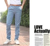 Free shipping Free belt Gift 2014 New Fashion Men's korea slim fit casual pants men Fashion pants trousers Brand.M-XXXL