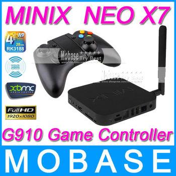 [G910 Bluetooth Game Controller]MINIX NEO X7 Android TV Box Quad Core Mini PC 1.6GHz 2G/16G WiFi HDMI USB RJ45 OTG XBMC Smart TV