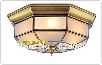 Size W460H200mm Brass Ceiling Lamp Modern European Flush -mounted Lighting Fixture for corridor , halll, dinning room , bedroom