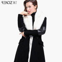 Fashion autumn 2014 trench women's Women spring and autumn slim medium-long trench outerwear