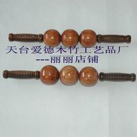 Back wooden massage device roller massage device wood grain of the back massage device lengthen