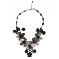 free shipping For nec  klace female short design chain black shell necklace accessories fashion