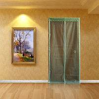 Summer mosquito curtain magnetic print mosquito soft screen door stripe brief