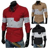 Free Shipping new unique multi-color, slim fit men's shirts ,fashion shirts  four color four size