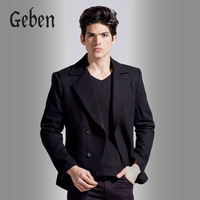 Spring and Autumn Men's Suit Business Casual Coat  Woolen Slim Jacket Fashion Single Blazer Outerwear Gentleman Style