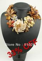# 225 Fashion wrap Flower necklace