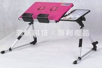 Computer desk with fan folding laptop cooling table bed a48 notebook mount table