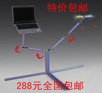 Double aluminum magnesium alloy laptop mount tablet holder bed computer desk
