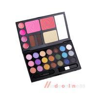 Eyebrow Cream Powder Cake Lip Gloss Cheek Blush Eyeshadow Make Up Kit Combo M3AO