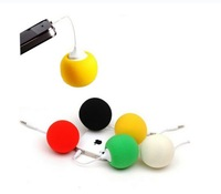 Mini Ball Pattern 3.5mm Sweet Speaker / mini USB Travel Speaker for iphone / Samsung S3,S4/ PC