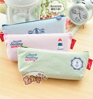 Wholesale Cute Creative Brand New Soft Canvas Pencil Case Pencil Bag Pen Pocket Cosmetic Bag 4 Designs 4 pcs/ lot