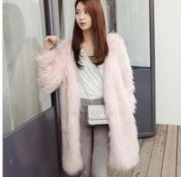2014 faux outerwear long design multicolour thermal faux outerwear overcoat woman winter warm coat   jackets women jacket