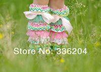 Free Shipping Pastel Rainbow Pink and Green Zig Zag Lace Chevron Leg Warmers