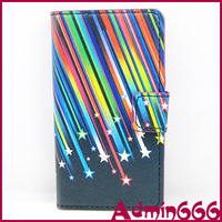 New Colorful Meteor Star High Quality Leather Case Cover Skin For Huawei Ascend Y300 Y300C U8833 / T8833
