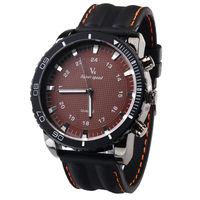 free shipping -- High quality V6 brand  Men's Leather Watch quartz wrist Watches 2013 fashion