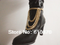 New Winter Style Chunky Chain Bracelet Heel Shoe Boots Ankle Chain Body Anklet Bracelet Foot Jewelry