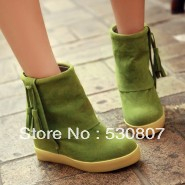 Elevator scrub tassel cute short casual shoes